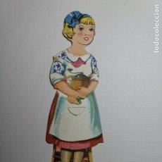 Coleccionismo Cromos troquelados antiguos: FIGURAS DE 3 CROMOS TROQUELADOS CHOCOLATES EVARISTO JUNCOSA HIJO BARCELONA-NIÑA. Lote 192483895