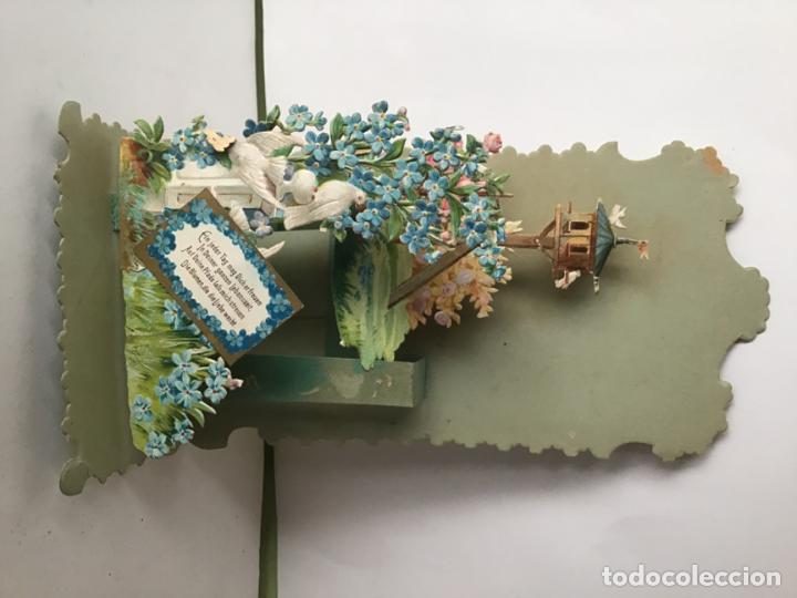 Coleccionismo Cromos troquelados antiguos: LOTE DE ANTIGUOS CROMOS TROQUELADOS DESPLEGABLES DEL SIGLO 19 , ORIGINAL FELICITACION POP UP - Foto 14 - 192732288