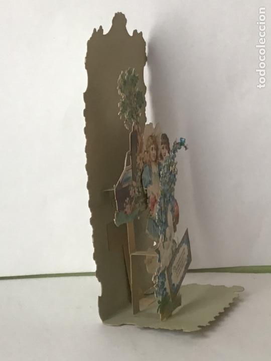 Coleccionismo Cromos troquelados antiguos: LOTE DE ANTIGUOS CROMOS TROQUELADOS DESPLEGABLES DEL SIGLO 19 , ORIGINAL FELICITACION POP UP - Foto 21 - 192732288