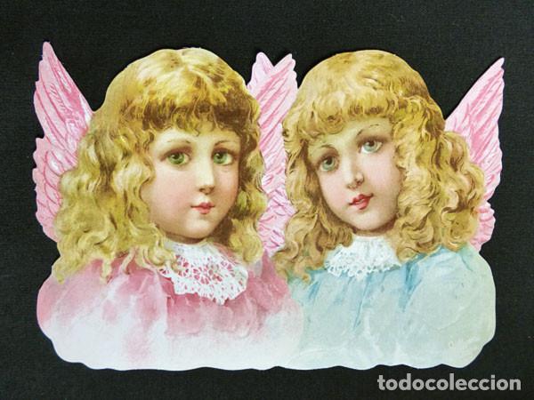 RR. CROMO TROQUELADO 16 CM. EN CARTULINA CON BRILLO Y RELIEVE EF - BK 5168 - ANGELES (Coleccionismo - Cromos y Álbumes - Cromos Troquelados)