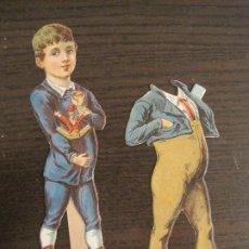 Coleccionismo Cromos troquelados antiguos: MUÑECO CON TRAJE-CHOCOLATES ...-SERIE A Nº 2-CROMO TROQUELADO-VER FOTOS-(V-19.077). Lote 194499195