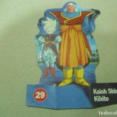 Coleccionismo Cromos troquelados antiguos: CROMO TROQUELADO DE BOLA DE DRAGÓN 29: KAIOH SHIN KIBITO. Lote 194500042