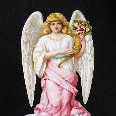 Coleccionismo Cromos troquelados antiguos: RR. CROMO TROQUELADO 16 CM. EN CARTULINA CON BRILLO Y RELIEVE EF - BK 5170 - ANGEL. Lote 194534081