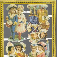 Coleccionismo Cromos troquelados antiguos: LÁMINA CROMOS TROQUELADOS INGLESES * A 4 * REPRODUCCIÓN DEL AÑO 1986 MLP. Lote 195028517