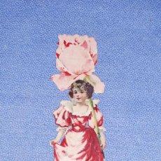 Coleccionismo Cromos troquelados antiguos: CROMO TROQUELADO CON RELIEVE CHOCOLATE JUNCOSA BARCELONA ORIGINAL. Lote 195180831