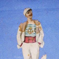 Coleccionismo Cromos troquelados antiguos: CROMO TROQUELADO CON RELIEVE CHOCOLATES SUPERIORES COMPAÑIA COLONIAL MADRID ORIGINAL. Lote 195182201