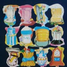 Coleccionismo Cromos troquelados antiguos: LAMINA CROMOS TROQUELADOS ESPAÑOLES FHER 19. Lote 195517843