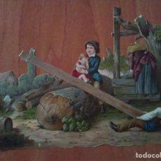 Coleccionismo Cromos troquelados antiguos: CROMO TROQUELADO GRANDE. Lote 197300818