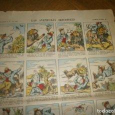 Coleccionismo Cromos troquelados antiguos: TEBEOS ESTAMPAS DE EPINAL 1 PELLERIN & CIE. IMP. CARTEL 40X30 CM. 36 NÚMEROS FINALES SIGLO XIX. Lote 202993031