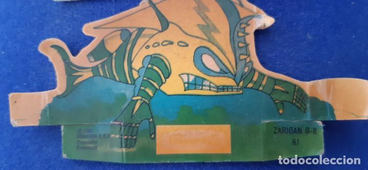 Coleccionismo Cromos troquelados antiguos: CROMO TROQUELADO PANRICO MAZINGER Z NUMERO 67 ZARIGAN POSIBLE ERROR IMPRESION COLOR VERDE MONOCROMO - Foto 5 - 203427076