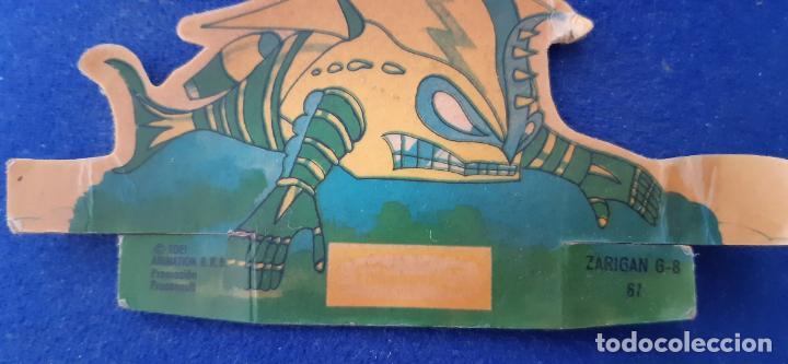 Coleccionismo Cromos troquelados antiguos: CROMO TROQUELADO PANRICO MAZINGER Z NUMERO 67 ZARIGAN POSIBLE ERROR IMPRESION COLOR VERDE MONOCROMO - Foto 6 - 203427076