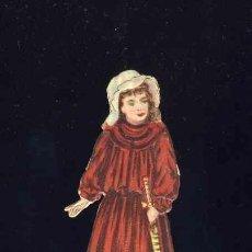Coleccionismo Cromos troquelados antiguos: CROMO TROQUELADO Y CON RELIEVE: NIÑA. PUB.CHOC. JAIME BOIX. 2,6 X 6,4 CMS. Lote 204595823