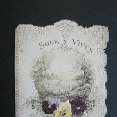 Coleccionismo Cromos troquelados antiguos: SOLE Y VIVES 1900-CHOCOLATE CONDAL Y SAGRADA FAMILIA-BARCELONA-PUBLICIDAD TROQUELADA-(70.159). Lote 205314908