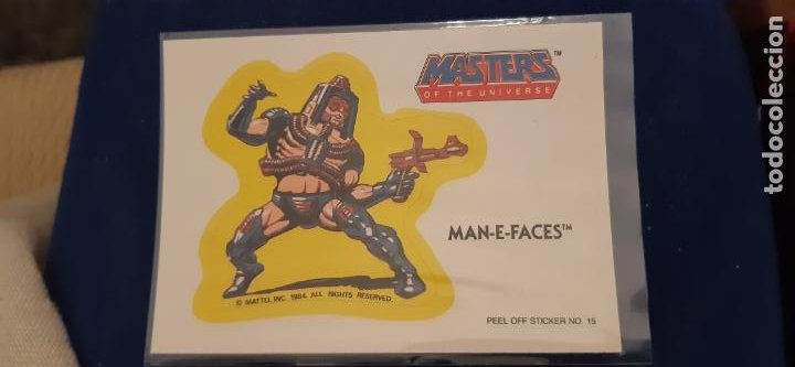 ADHESIVO TROQUELADO DOBLE ESCENA ACCION PUZZLE MOTU MASTERS UNIVERSO HE MAN E FACES MATTEL 1984 (Coleccionismo - Cromos y Álbumes - Cromos Troquelados)