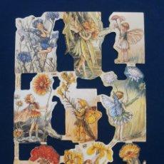 Coleccionismo Cromos troquelados antiguos: LAMINA CROMOS TROQUELADOS MLP- 1959. HADAS. RELIEVE Y BRILLO¡¡¡ESCASA¡¡. Lote 206583136