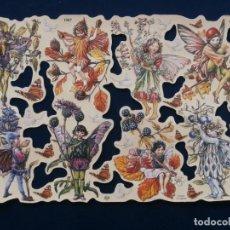 Coleccionismo Cromos troquelados antiguos: LAMINA CROMOS TROQUELADOS MLP- 1987. HADAS. RELIEVE Y BRILLO¡¡¡ESCASA¡¡. Lote 206583192