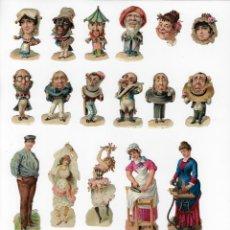 Coleccionismo Cromos troquelados antiguos: 22 FIGURAS TROQUELADAS ANTIGUAS. TEMÁTICAS DIVERSAS.. Lote 206758107