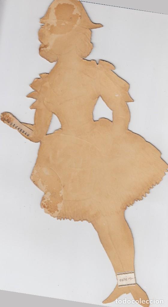 Coleccionismo Cromos troquelados antiguos: Antiguo cromo litografiado, troquelado. Finales del siglo XIX. Tamaño: 31 x 14 ctms. - Foto 2 - 207129006
