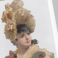 Coleccionismo Cromos troquelados antiguos: ANTIGUO CROMO LITOGRAFIADO, TROQUELADO. FINALES DEL SIGLO XIX. TAMAÑO: 29 X 17 CTMS.. Lote 207130286