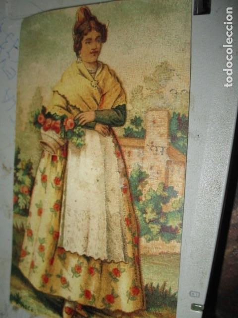 CROMO SIGLO XIX FARMACIA SAN ANTONIO DROGUERIA COLONIA BLAS CUESTA VALENCIA DIA FIESTA VALENCIA (Coleccionismo - Cromos y Álbumes - Cromos Troquelados)