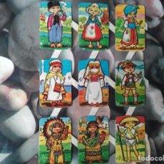 Coleccionismo Cromos troquelados antiguos: LOTE DE NUEVE CROMOS TROQUELADOS ANTIGUOS. CROMOS RETRO. TOTALMENTE NUEVOS. CLASICOS.. Lote 208354987
