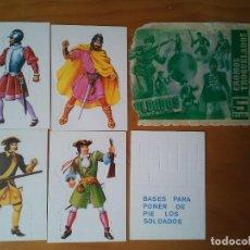 Coleccionismo Cromos troquelados antiguos: ANTIGUO LOTE DE CROMOS TROQUELADOS DE LA COLECCIÓN SOLDADOS DE TODOS LOS TIEMPOS. Lote 209030365
