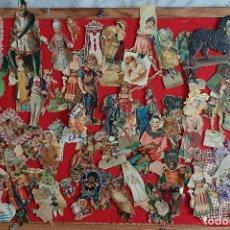 Coleccionismo Cromos troquelados antiguos: LOTE DE CROMOS TROQUELADOS MUY ANTIGUOS LA MAYORIA CON TARAS O FALTA DE PAPEL , ORIGINALES. Lote 209943816