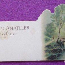 Coleccionismo Cromos troquelados antiguos: CROMO MUY ANTIGUO SIGLO XIX TROQUELADO PAISAJE VER FOTO TRASERA CHOCOLATE AMATLLER BARCELONA C39. Lote 210720291