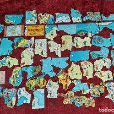 Coleccionismo Cromos troquelados antiguos: 52 CROMOS CHOCOLATES JAIME BOIX. MAPA DE EUROPA. FACSIMIL. COMPLETA. SIGLO XX.. Lote 210733762