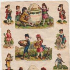 Coleccionismo Cromos troquelados antiguos: LOTE DE 11 CROMOS TROQUELADOS PEGADOS (5,5X9 Y 4,5 CMS.) SIGLO XIX-XX. Lote 210959496