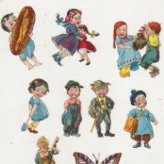 Coleccionismo Cromos troquelados antiguos: LOTE DE 9 CROMOS TROQUELADOS (6,5 A 5 CMS.) SIGLO XIX-XX. DIFÍCIL EN ESTA CONSERVACIÓN. Lote 210959570