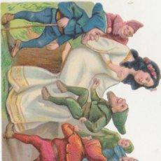 Coleccionismo Cromos troquelados antiguos: CROMO TROQUELADO (9,5X12) BLANCANIEVES. SIGLO XI-XX. MUY DIFÍCIL EN ESTA CONSERVACIÓN. Lote 210959610