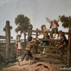 Coleccionismo Cromos troquelados antiguos: CROMO TROQUELADO GRANDE. Lote 213049465
