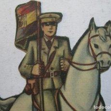 Coleccionismo Cromos troquelados antiguos: EJERCITO POPULAR-CABALLERIA-CAPITAN ABANDERADO-REPUBLICA-CROMO TROQUELADO-VER FOTOS-(V-22.030). Lote 215670257