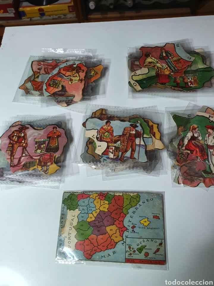 Coleccionismo Cromos troquelados antiguos: Mapa de España, 48 cromos a falta de 1. - Foto 4 - 217165306