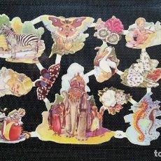 Coleccionismo Cromos troquelados antiguos: LAMINA DE CROMOS TROQUELADOS EVA 124 NUEVA. Lote 217568951