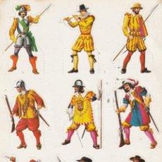 Coleccionismo Cromos troquelados antiguos: LÁMINA CROMOS TROQUELADOS SOLDADOS DE TODOS LOS TIEMPOS . MAGA 1981. Lote 219816581