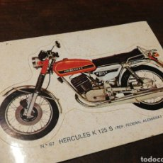 Coleccionismo Cromos troquelados antiguos: CROMO TROQUELADO MOTO HÉRCULES K 125 S (REP. FEDERAL ALEMANA)- BRUGUERA, N°67.. Lote 221725745