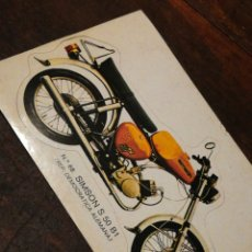 Coleccionismo Cromos troquelados antiguos: CROMO TROQUELADO MOTO SIMPSON S50 B1 (REP. DEMOCRATICA ALEMANA)- BRUGUERA, N°68.. Lote 221726101
