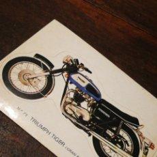 Coleccionismo Cromos troquelados antiguos: CROMO TROQUELADO MOTO TRIUMPH TIGER (GRAN BRETAÑA)- BRUGUERA, N°73.. Lote 221726202
