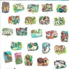 Coleccionismo Cromos troquelados antiguos: LOTE 30 CROMOS PEQUEÑOS ANIMALES. Lote 221741120