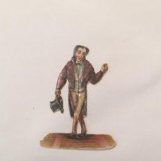 Coleccionismo Cromos troquelados antiguos: CROMO TROQUELADO CROMOS DE PICAR HOMBRECILLO FIGURAS PERSONAJES GROTESCOS ANTIGUO SIGLO XIX. Lote 221779960