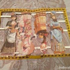 Coleccionismo Cromos troquelados antiguos: REPRODUCCIONES ANTIGUOS CROMOS DAMAS EPOCA INGLESES AÑO 1986. Lote 223155000