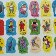 Coleccionismo Cromos troquelados antiguos: GIN. LÁMINA DE CROMOS TROQUELADOS EDIVAS DISNEY PEQUEÑA - 58. Lote 225723725