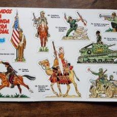 Coleccionismo Cromos troquelados antiguos: CROMOS TROQUELADOS SOLDADOS SEGUNDA GUERRA MUNDIAL PHOSKITOS 1982. Lote 253149215