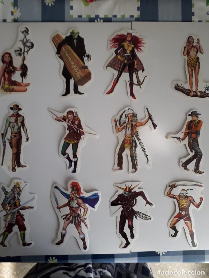 PEGATINA CROMOS TROQUELADOS ADHESIVOS BRUGUERA SEPARADOS DEL CUADRO (Coleccionismo - Cromos y Álbumes - Cromos Troquelados)