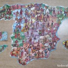 Coleccionismo Cromos troquelados antiguos: PUZZLE - MAPA DE ESPAÑA - COLECCION COMPLETA - 48 CROMOS - CHOCOLATES JAIME BOIX ... L2969. Lote 232412590