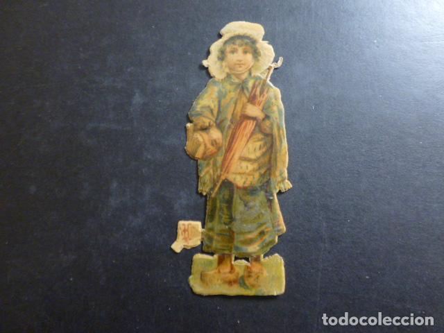 MUJER CROMO TROQUELADO SIGLO XIX (Coleccionismo - Cromos y Álbumes - Cromos Troquelados)