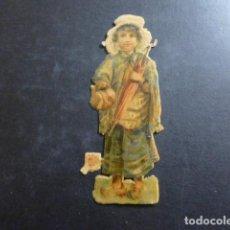 Coleccionismo Cromos troquelados antiguos: MUJER CROMO TROQUELADO SIGLO XIX. Lote 234517200