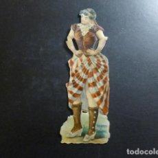 Coleccionismo Cromos troquelados antiguos: MUJER CROMO TROQUELADO SIGLO XIX. Lote 234517365